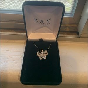 Butterfly Necklace with Diamond Accents